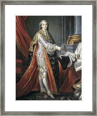 Drouais, Fran�ois Hubert 1727-1775 Framed Print by Everett