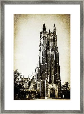Duke Chapel Framed Print by Emily Kay