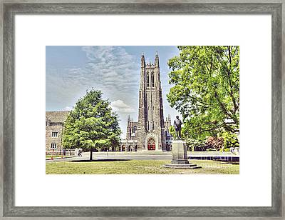 Duke Chapel In Spring Framed Print by Emily Kay
