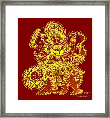 Durga Maa Framed Print by Sketchii Studio