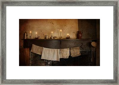 By Candle Light Framed Print by Robin-lee Vieira