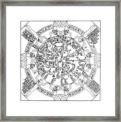 Egyptian Celestial Sphere Framed Print by Granger