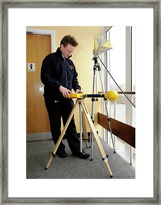 Electromagnetic Radiation Monitoring Framed Print by Public Health England