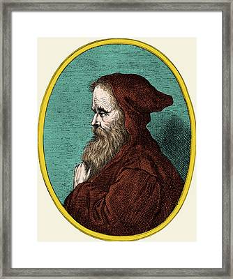 Empedocles, Ancient Greek Philosopher Framed Print by Science Source