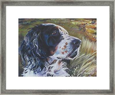 English Setter Framed Print by Lee Ann Shepard