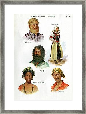 Ethnic Groups Framed Print by Cci Archives
