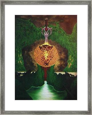 Excalibur Framed Print by Guillaume Bruno