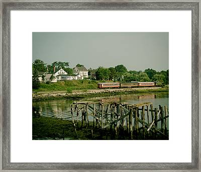 Excursion Train In Wiscasset Maine Framed Print by Mountain Dreams