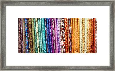 Fabric Colours Framed Print by Tom Gowanlock