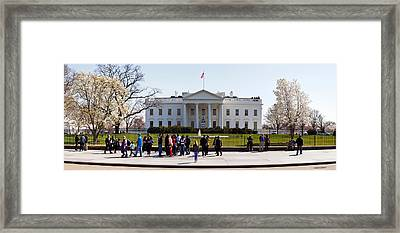 Facade Of A Government Building, White Framed Print by Panoramic Images