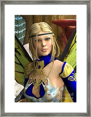 Fairy Butterfly Framed Print by Design Windmill