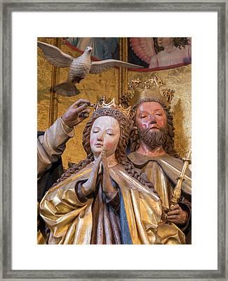 Famous Altar (maria Kronung Altar Framed Print by Martin Zwick