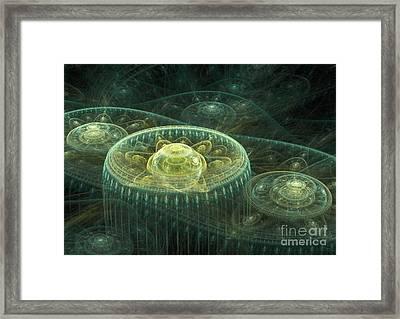 Fantasy Landscape Framed Print by Martin Capek