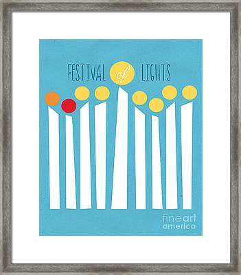 Festival Of Lights Framed Print by Linda Woods