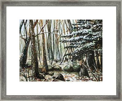 First Snow Framed Print by Shana Rowe Jackson