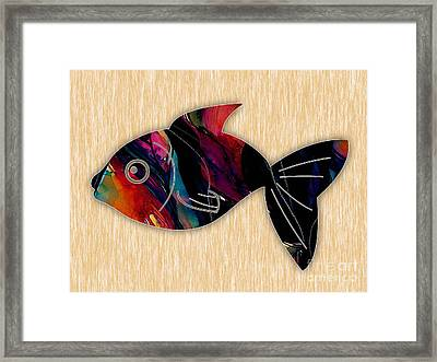 Fish Painting Framed Print by Marvin Blaine