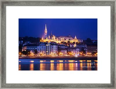 Fisherman's Bastion In Budapest Framed Print by Michal Bednarek