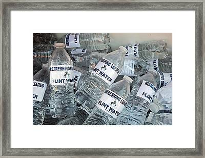 Flint Drinking Water Protest Framed Print by Jim West