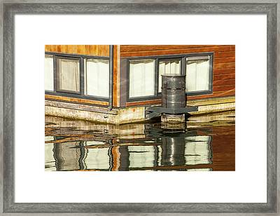 Floating Houses In Amsterdam Framed Print by Ashley Cooper