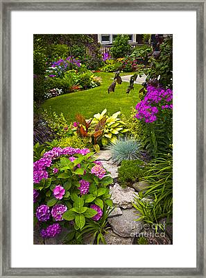 Cultivated Framed Print featuring the photograph Flower Garden by Elena Elisseeva