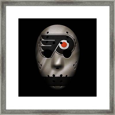 Flyers Jersey Mask Framed Print by Joe Hamilton