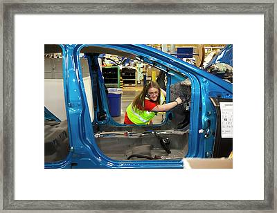 Ford Focus Assembly Line Framed Print by Jim West