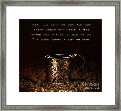 Forget About The World Framed Print by John Stephens