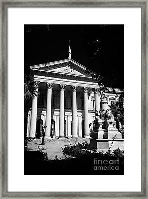 former national congress building Santiago Chile Framed Print by Joe Fox