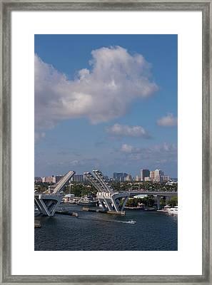 Fort Lauderdale, Port Everglades Framed Print by Lisa S. Engelbrecht