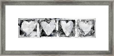 Four Hearts Framed Print by Carol Leigh