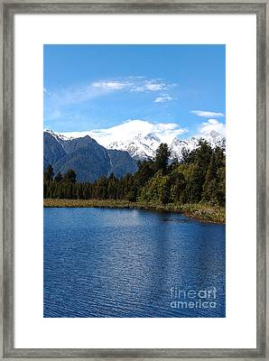 Fox Glacier Nz Framed Print by Fran Woods