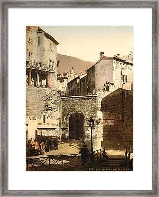 France Grasse, C1895 Framed Print by Granger