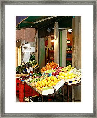 Fresh Produce Framed Print by Ellen Henneke