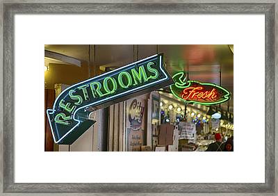 Fresh Restrooms Framed Print by Scott Campbell
