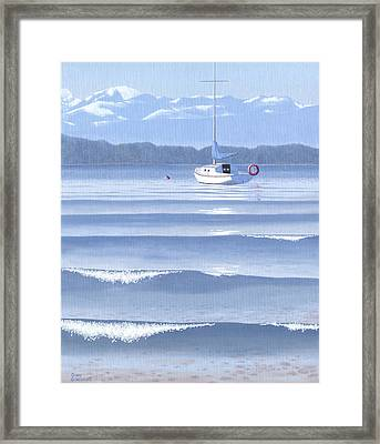 From The Beach Framed Print by Gary Giacomelli