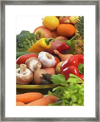 Fruit And Vegetables Framed Print by Tek Image