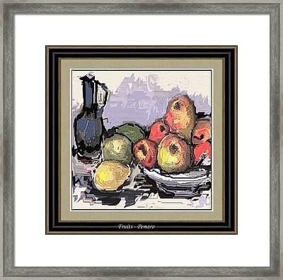 Fruit Framed Print by Pemaro