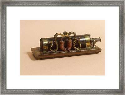Galvanic Coil Framed Print by Science Photo Library