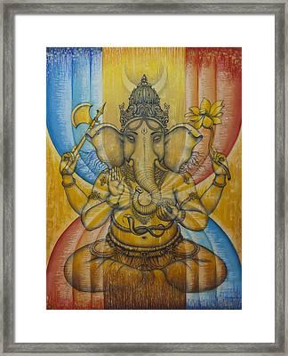 Ganesha  Framed Print by Vrindavan Das