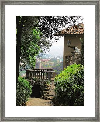 Garden View Framed Print by Ellen Henneke