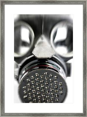 Gas Mask Framed Print by Crown Copyright/health & Safety Laboratory Science Photo Library