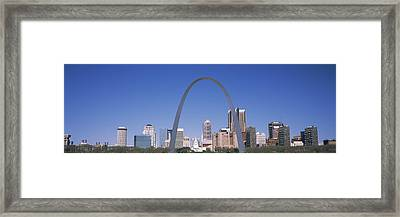 Gateway Arch With City Skyline Framed Print by Panoramic Images