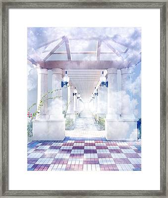 Gateway To Heaven Framed Print by Rudy Umans