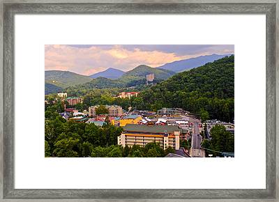 Gatlinburg Tennessee Framed Print by Frozen in Time Fine Art Photography