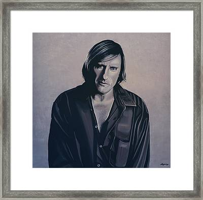 Gerard Depardieu Painting Framed Print by Paul Meijering