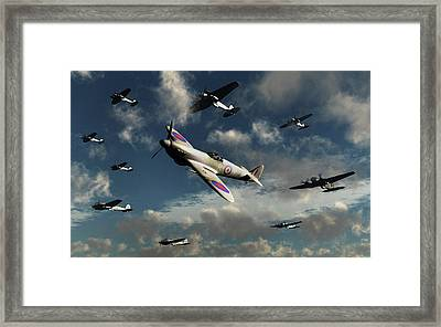 German Heinkel He 111 Bombers Framed Print by Mark Stevenson