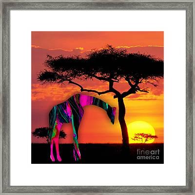 Giraffe Framed Print by Marvin Blaine