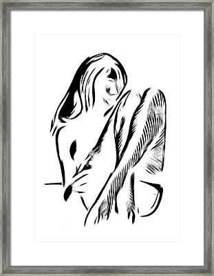 Girl In Stockings Framed Print by Stefan Kuhn