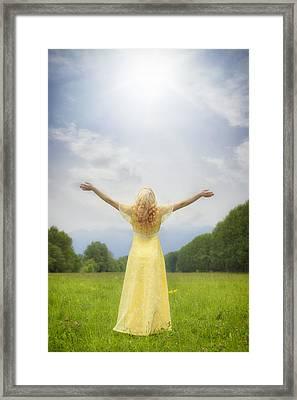 Girl On Meadow Framed Print by Joana Kruse