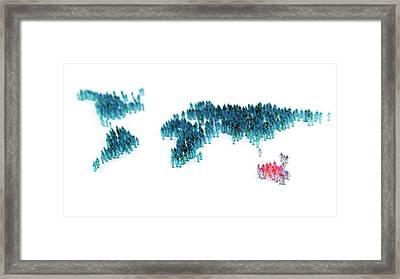 Global Community Framed Print by Andrzej Wojcicki